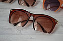Очки солнцезащитные копия   Miu Miu с металлической дужкой Оранж, фото 2