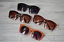 Очки солнцезащитные копия   Miu Miu с металлической дужкой Оранж, фото 3