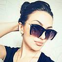 Очки солнцезащитные копия   Miu Miu с металлической дужкой Оранж, фото 6