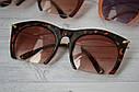 Очки солнцезащитные копия   Miu Miu с металлической дужкой Оранж, фото 7