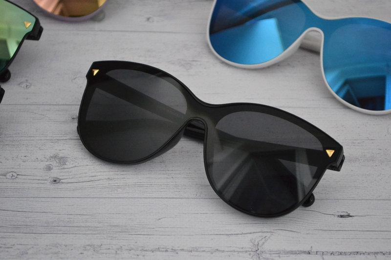 Солнцезащитные женские очки кошачий глаз крупные №2