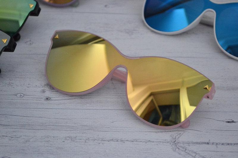 Солнцезащитные женские очки кошачий глаз крупные №3