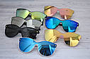 Солнцезащитные женские очки кошачий глаз крупные №3, фото 4