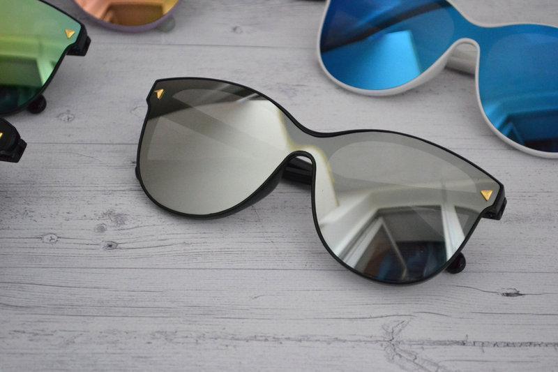 Солнцезащитные женские очки кошачий глаз крупные уценка