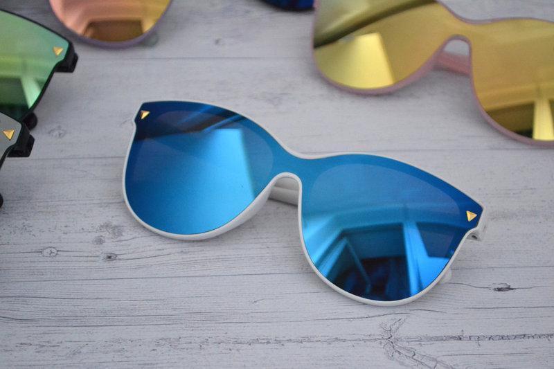 Солнцезащитные женские очки кошачий глаз крупные №7