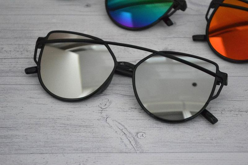 Солнцезащитные  очки копия Диор в пластиковой оправе Белый хром