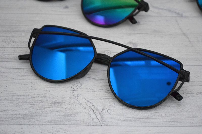 Солнцезащитные  очки копия Диор в пластиковой оправе Синий
