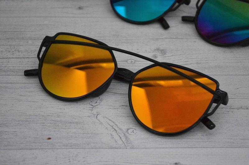 Солнцезащитные  очки копия Диор в пластиковой оправе Красно-оранжевый