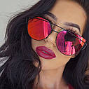 Солнцезащитные  очки копия Диор в пластиковой оправе Красно-оранжевый, фото 8