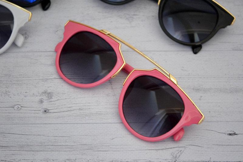 Солнцезащитные очки женские фигурные Розовый