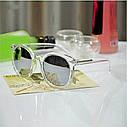 Очки солнцезащитные унисекс круглые прозрачная оправа Зеленый, фото 2
