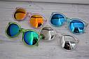 Очки солнцезащитные унисекс круглые прозрачная оправа Зеленый, фото 4
