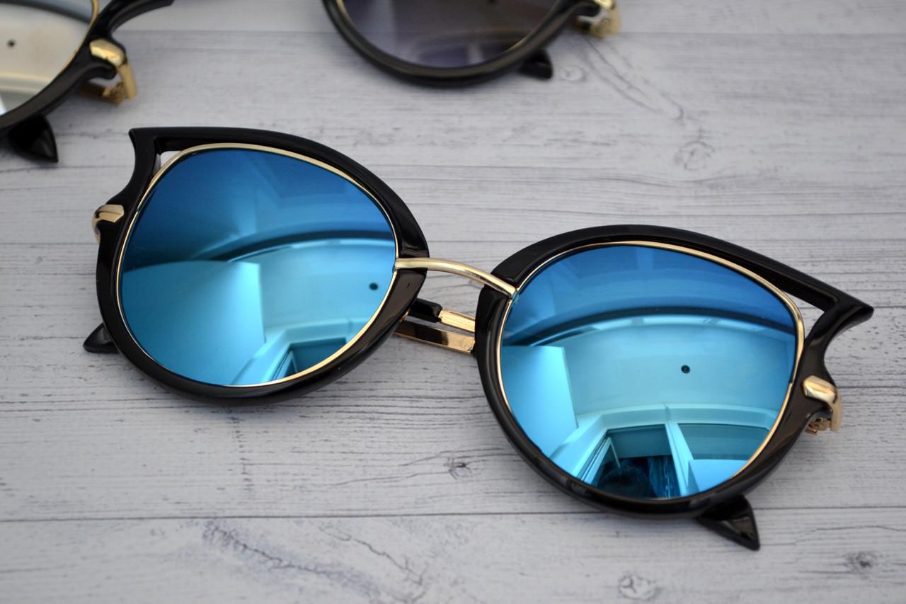 Женские солнцезащитные очки Голубой
