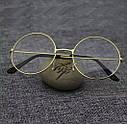 Круглые ретро имиджевые очки тишейды Серебро , фото 5