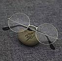 Круглые ретро имиджевые очки тишейды Золото, фото 2
