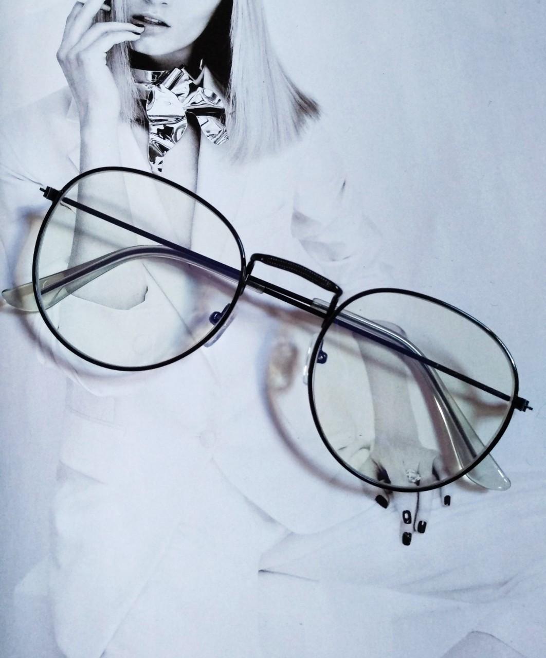 Ретро имиджевые очки №2 Чёрный
