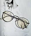 Ретро имиджевые очки №2 Чёрный, фото 5