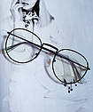 Ретро имиджевые очки №2 Бронзовый, фото 2