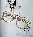 Ретро имиджевые очки №2 Бронзовый, фото 4