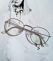 Ретро имиджевые очки №2 Серебро