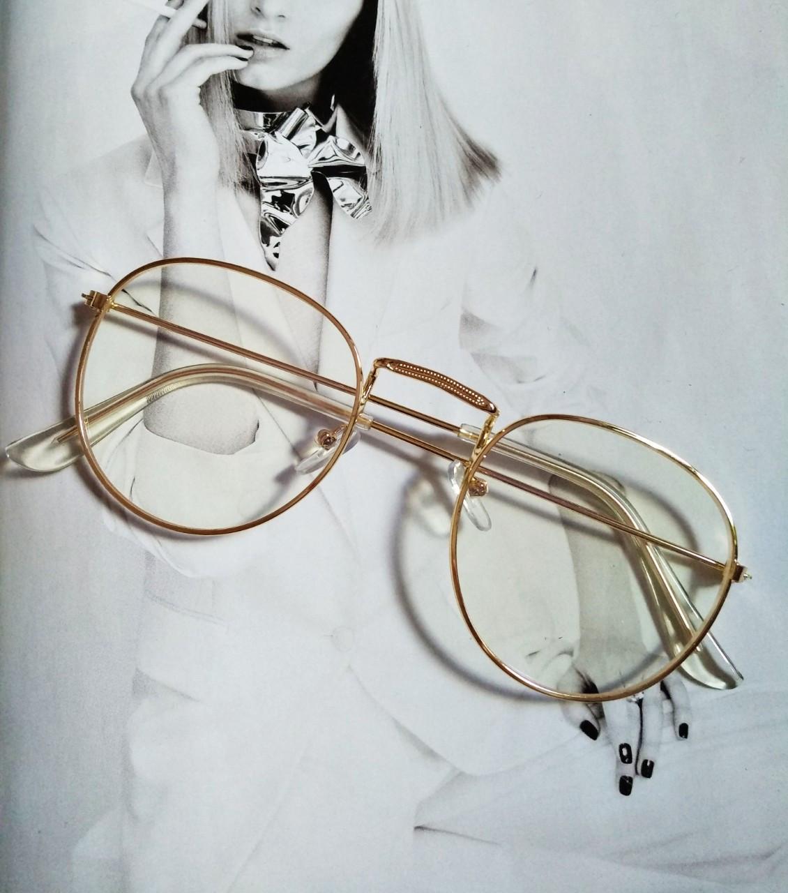 Ретро имиджевые очки №2 Золото