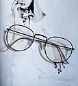 Ретро имиджевые очки №2 Золото, фото 3