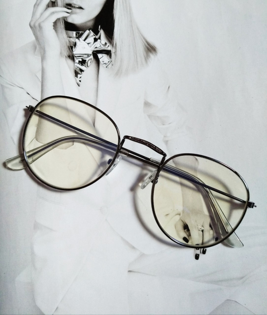 Ретро имиджевые очки №2 Графит
