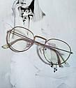 Ретро имиджевые очки №2 Графит, фото 2