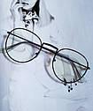 Ретро имиджевые очки №2 Графит, фото 3