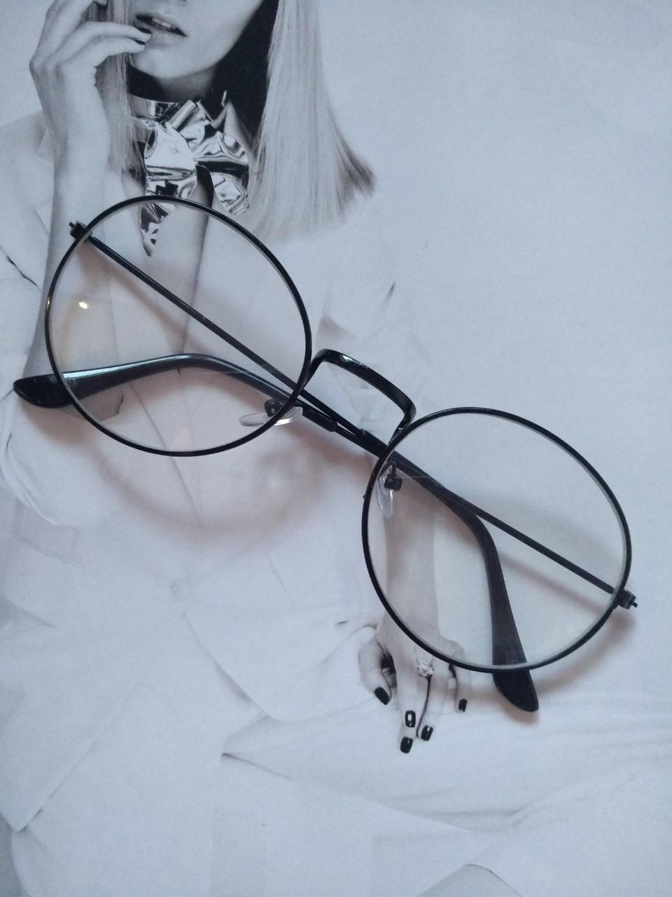 Ретро имиджевые очки в стиле тишейды  Черный