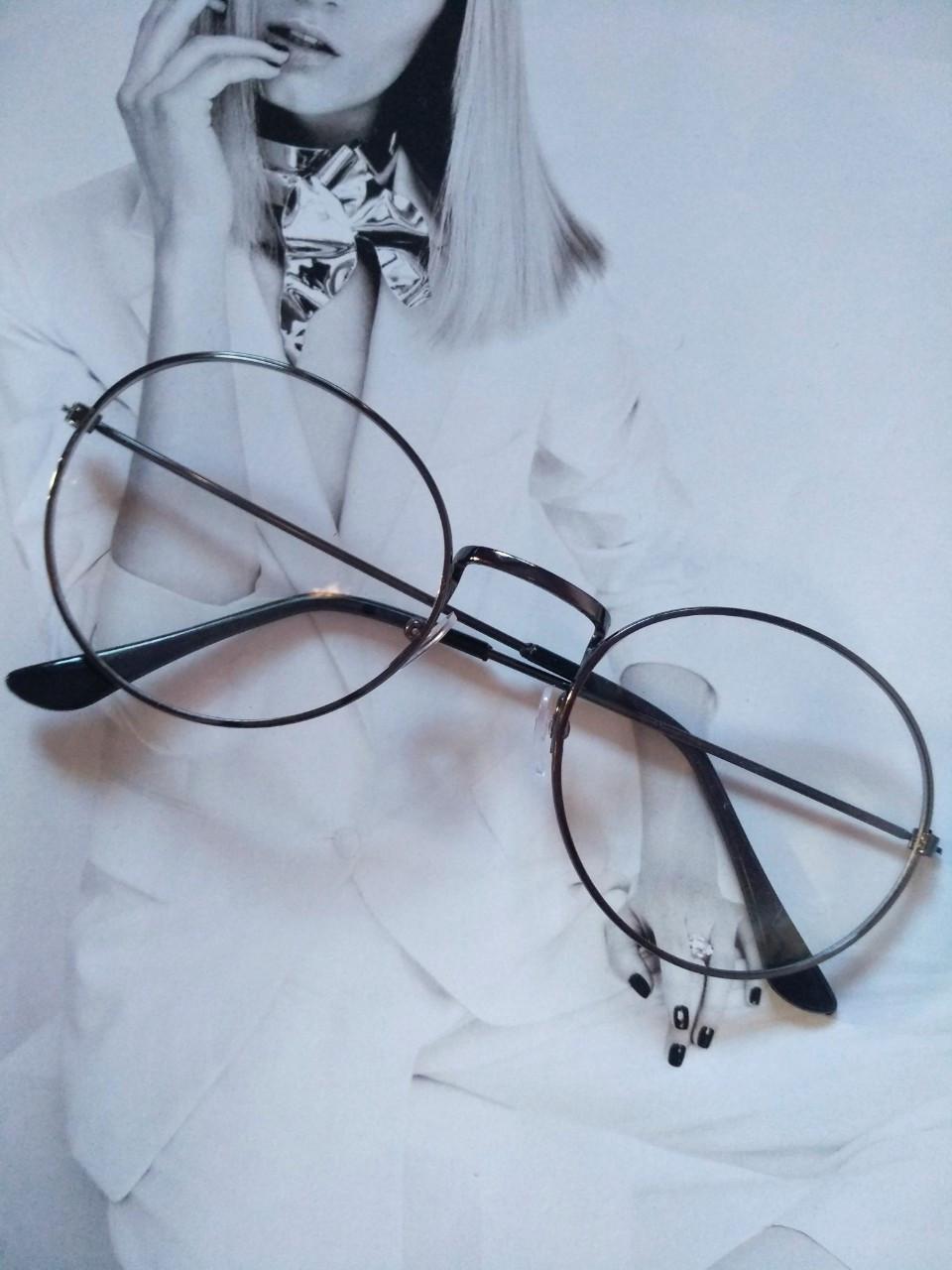 Ретро имиджевые очки в стиле тишейды Графит