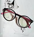 Имиджевые очки  круглые с  прозрачной линзой Чёрный, фото 2