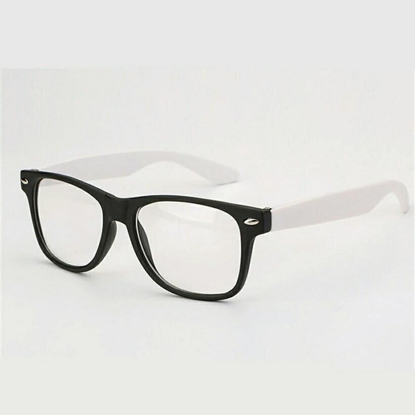 Имиджевые очки с прозрачной линзой с цветными дужками Белый