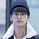Имиджевые очки с  прозрачной линзой круглые с металлическими дужками №2 Чёрный, фото 5