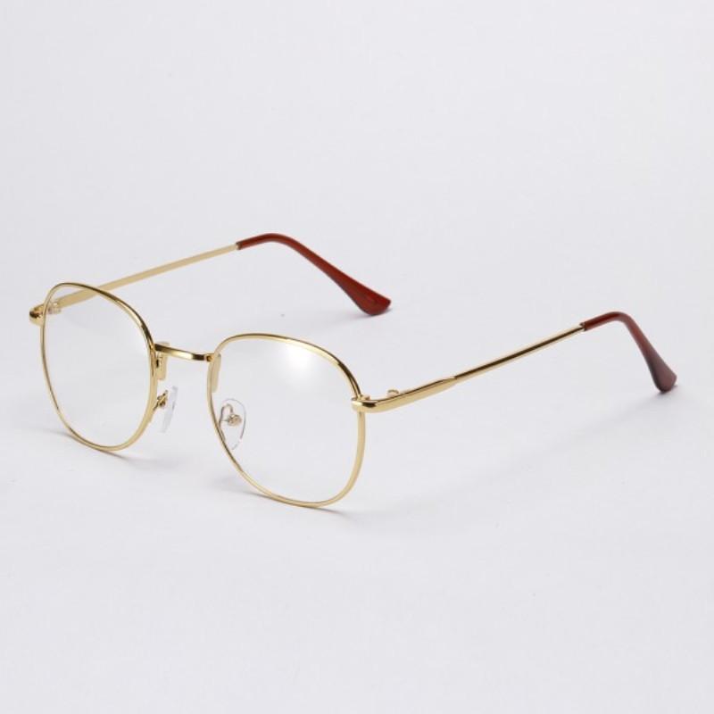 Ретро имиджевые очки Золото