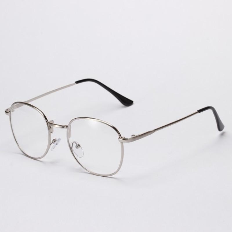 Ретро имиджевые очки Серебро