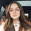 Имиджевые очки с  прозрачной линзой круглые с металлическими дужками Прозрачный, фото 7