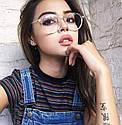 Имиджевые очки с  прозрачной линзой круглые с металлическими дужками Прозрачный, фото 8