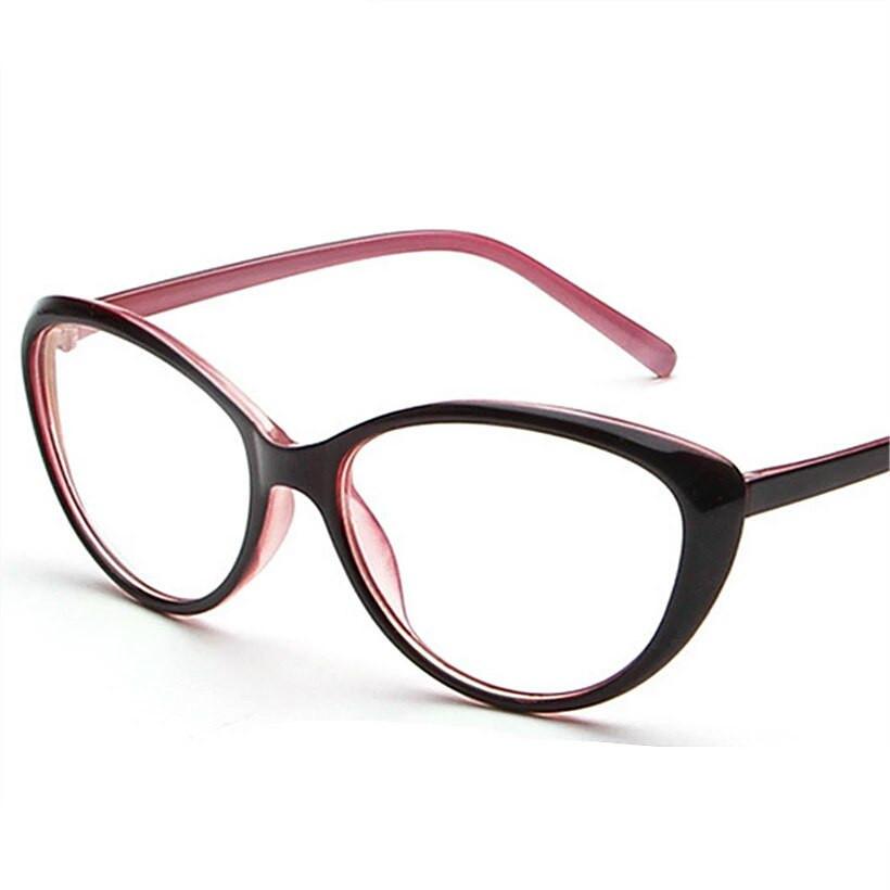 Очки имиджевые кошачий глаз Розовый