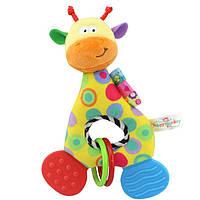 Мягкая игрушка - прорезыватель Веселый жираф Happy Monkey