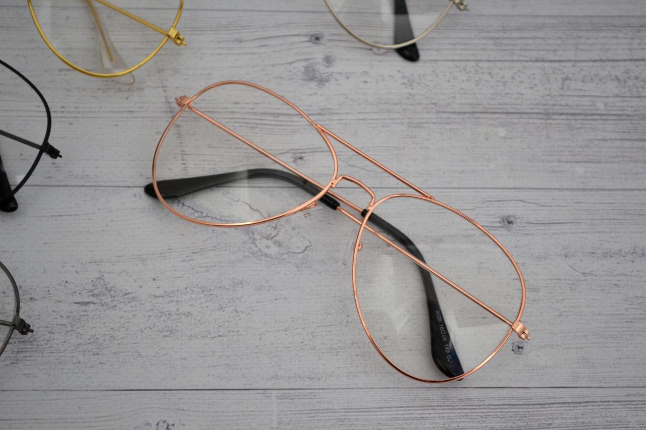 Имиджевые очки авиаторы капли унисекс Медный