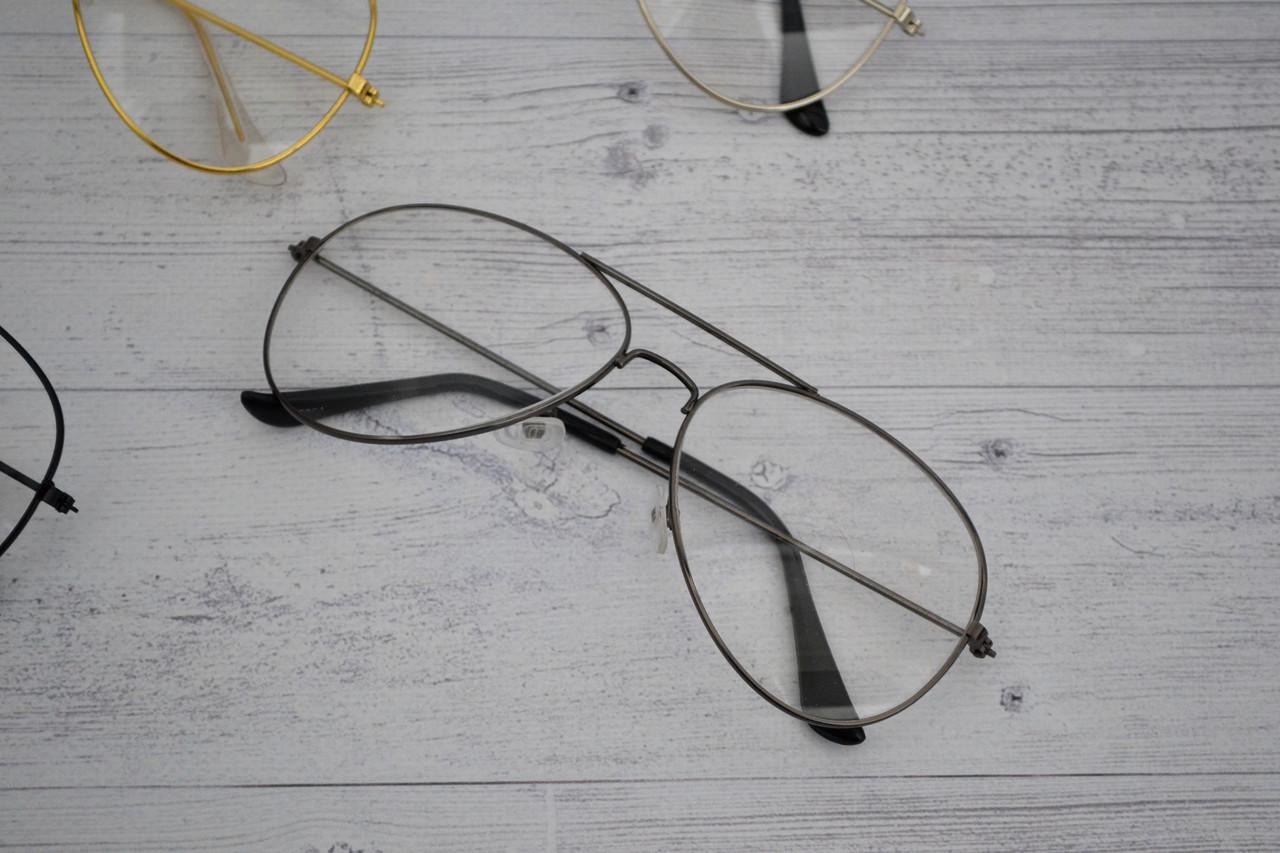 Имиджевые очки авиаторы капли унисекс Графит
