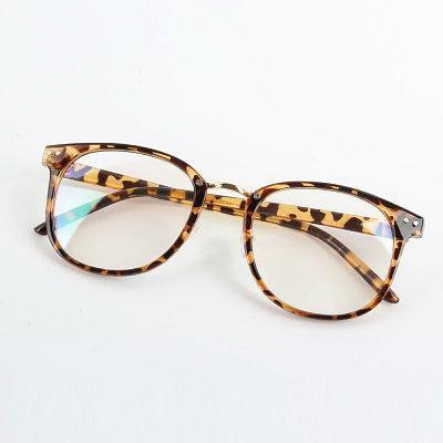 Имиджевые очки в тонкой оправе унисекс Леопард
