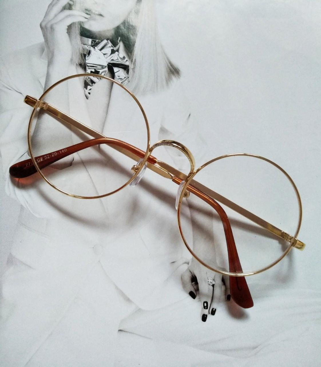 Круглые ретро имиджевые очки Золото
