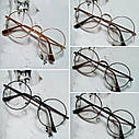 Круглые ретро имиджевые очки Золото, фото 2