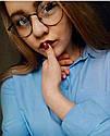Круглые ретро имиджевые очки Золото, фото 3