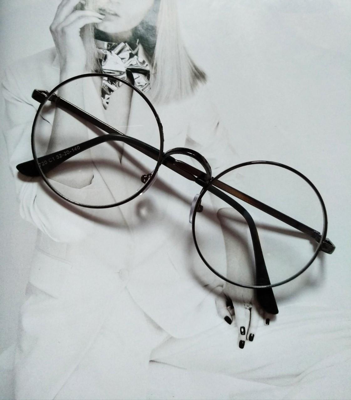 Круглые ретро имиджевые очки Графит