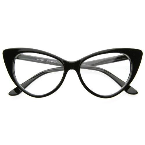 Очки имиджевые кошка классика, с прозрачной линзой Чёрный