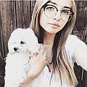 Имиджевые очки кошка круглые Чёрный, фото 8