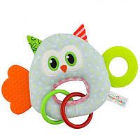 Мягкая игрушка - прорезыватель Удивлённая сова Happy Monkey